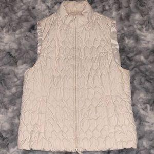Creme quilted Liz Claiborne Vest